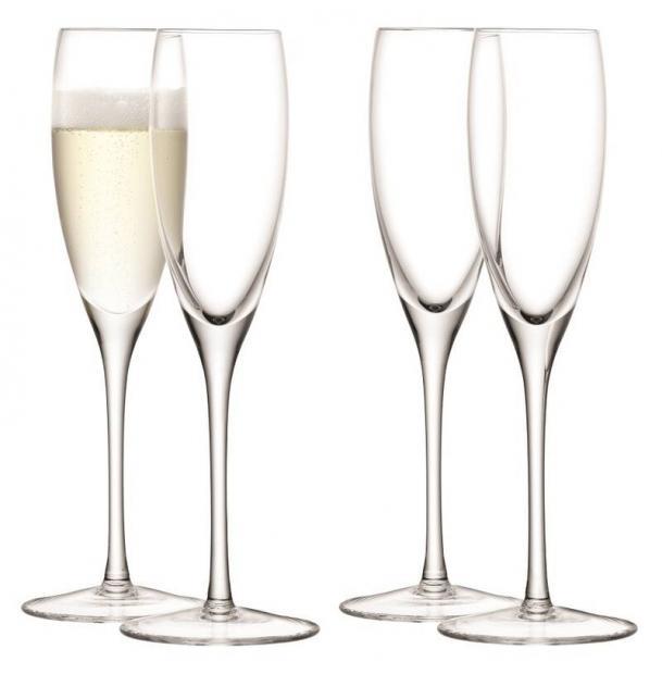 Набор из 4 бокалов-флейт для шампанского LSA International Wine 150 мл