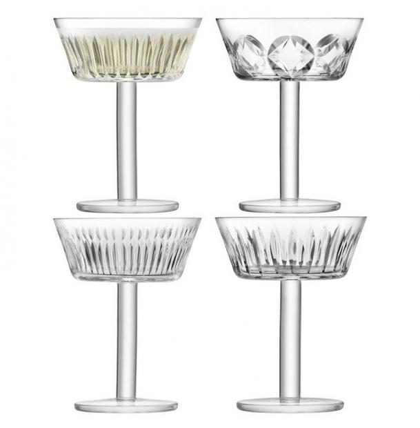 Набор из 4 бокалов-креманок для шампанского LSA International Tatra 250 мл