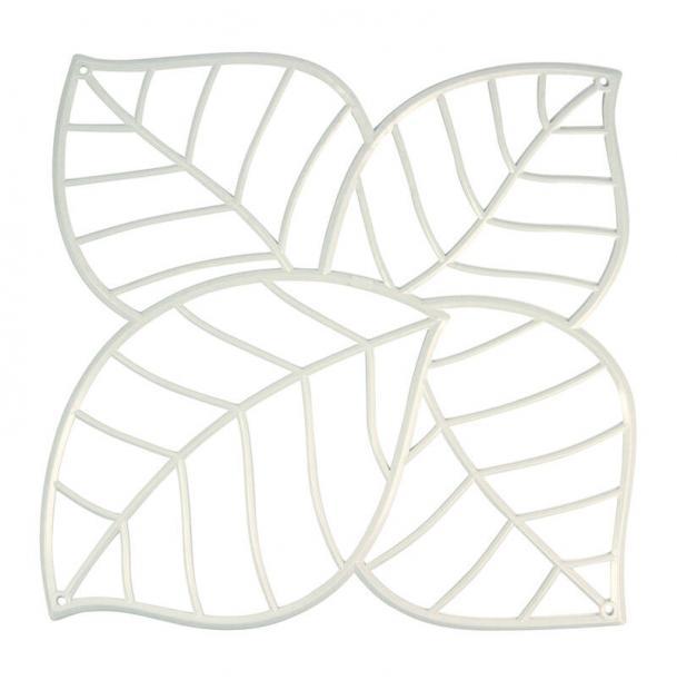 Набор из 4 декоративных элементов Koziol Leaf белый