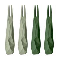 Набор из 4 шпажек Koziol Club зелёный