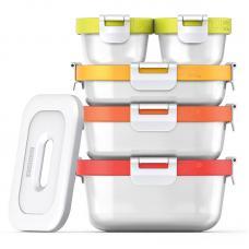 Набор из 5 контейнеров Zoku Neat Stack и охлаждающего блока