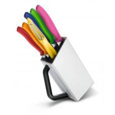 Набор из 6 ножей VICTORINOX: овощечистка, 3 ножа для овощей, столовый нож, нож для пиццы и стейка
