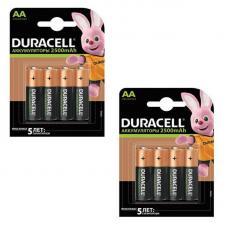 Набор из 8 аккумуляторов Duracell R6 AA BL4 NI-MH 2500mAh