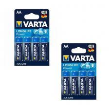 Набор из 8 батареек VARTA Longlife Power Alkaline AA