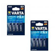 Набор из 8 батареек VARTA Longlife Power Alkaline AAA