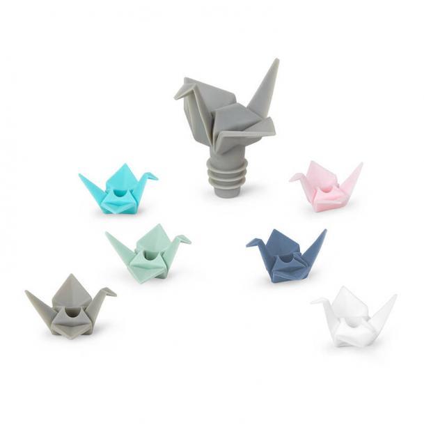Набор Из Пробки Для Бутылки И Маркеров Для Бокалов Umbra Origami