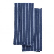 Набор кухонных полотенец Tkano Essential сине-фиолетовые