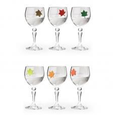 Набор маркеров для бокалов Qualy Leaf My Glass, 6 шт.