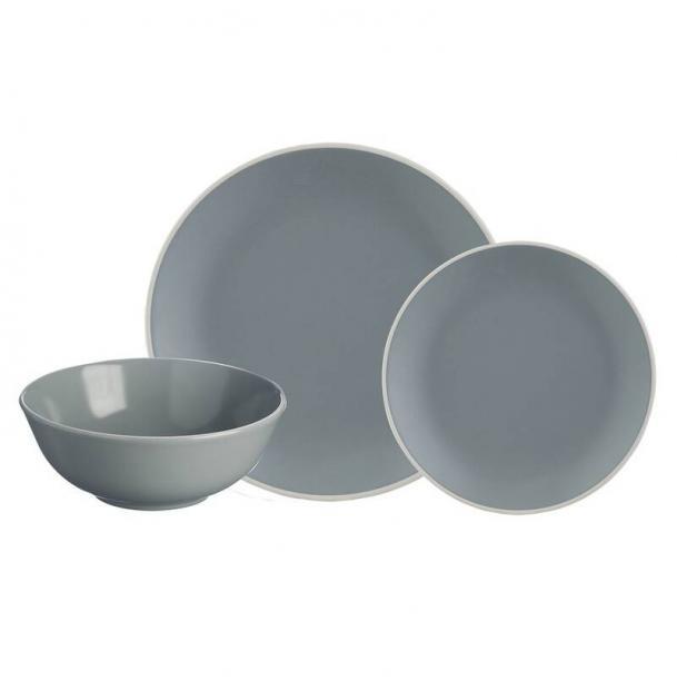 Набор обеденной посуды Mason Cash Classic 12 предметов серый