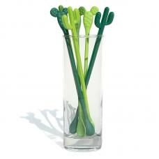 Набор палочек для размешивания коктейля Qualy Cactus