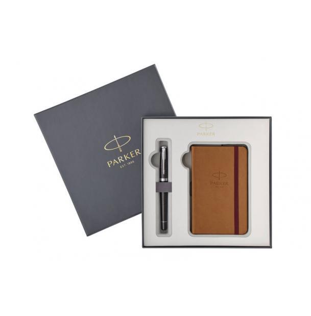 Набор: Перьевая ручка Parker Urban Premium Ebony + блокнот
