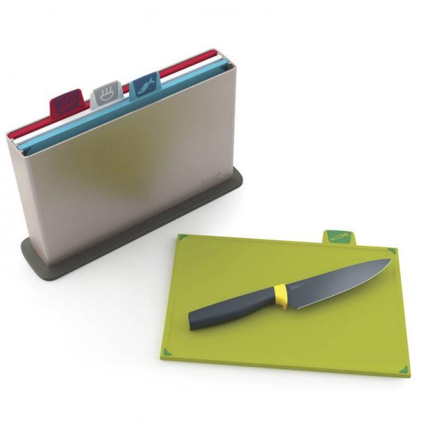 Набор Разделочных Досок Joseph Joseph Index™ '14 Серебристый С Ножом В Подарок