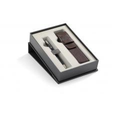Набор: Шариковая ручка Parker Sonnet Black Lacquer CT + чехол из экокожи