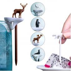 Набор шпажек-маркеров для бокалов Qualy Cool Animal