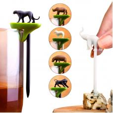 Набор шпажек-маркеров для бокалов Qualy Hot Animal