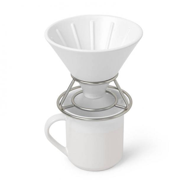 Набор Umbra Perk Для Заваривания Кофе Методом Пуровер Белый