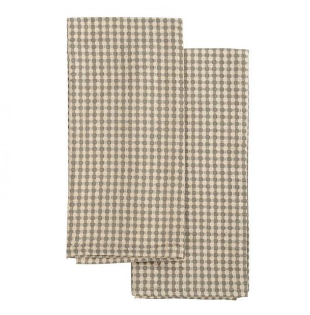 Набор вафельных кухонных полотенец Tkano Essential бежевые TK19-TT0004