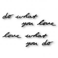 Надпись Декоративная Umbra Do What You Love Настенная Черная