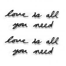 Надпись Декоративная Umbra Love Is All You Need Настенная Черная