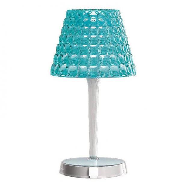 Настольный беспроводной светильник Tiffany голубой