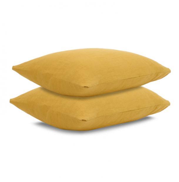 Наволочка Tkano лен горчичная Essential 70х70