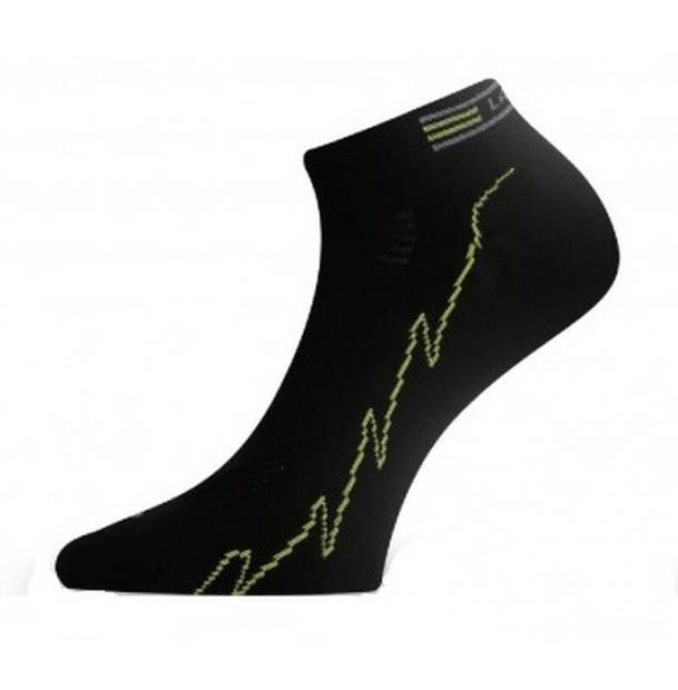 Носки черныt с зеленой полоской Lasting ACH986L