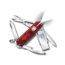 Нож-брелок Midnight Manager@work, 58 мм, с USB 3.0/3.1 16 Гб, 10 функций, полупрозрачный красный