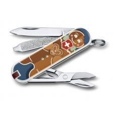 "Нож-брелок VICTORINOX Classic ""Gingerbread Love"", 58 мм, 7 функций"