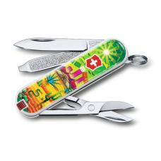 "Нож-брелок VICTORINOX Classic ""Mexican Sunset"", 58 мм, 7 функций"