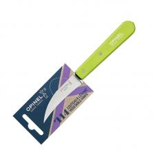 Нож для чистки овощей Opinel №114  блистер зеленый
