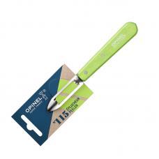 Нож для чистки овощей Opinel №115  блистер зеленый