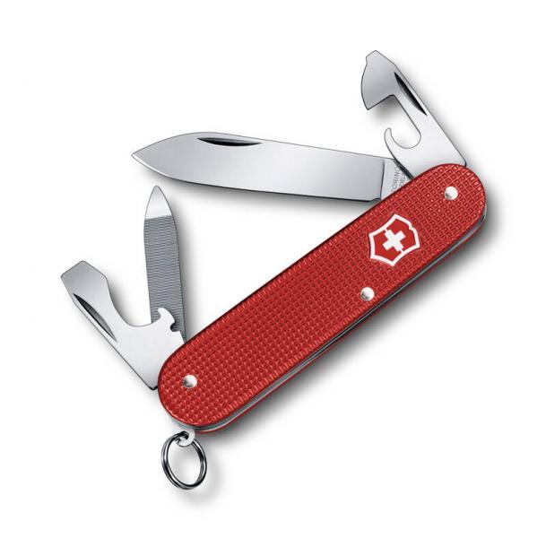 Нож перочинный VICTORINOX Cadet Alox, 84 мм, 9 функций, алюминиевая рукоять, красный 0.2601.L18