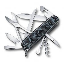 Нож перочинный VICTORINOX Huntsman Navy Camouflage, 91 мм, 15 функций, серо-синий камуфляж