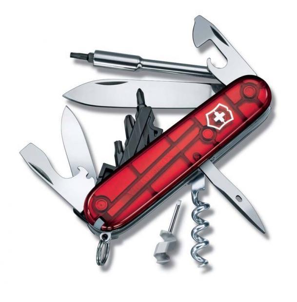 Нож Victorinox CyberTool, 91 мм, 29 функций, полупрозрачный красный