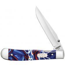 Нож ZIPPO Patriotic Kirinite Smooth Trapperlock синий + ЗАЖИГАЛКА ZIPPO 207