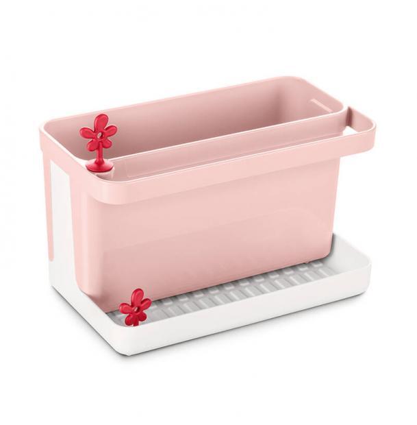 Органайзер для раковины Koziol Park It бело-розовый