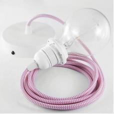 Патрон для плафона со шнуром Koziol розово-белый