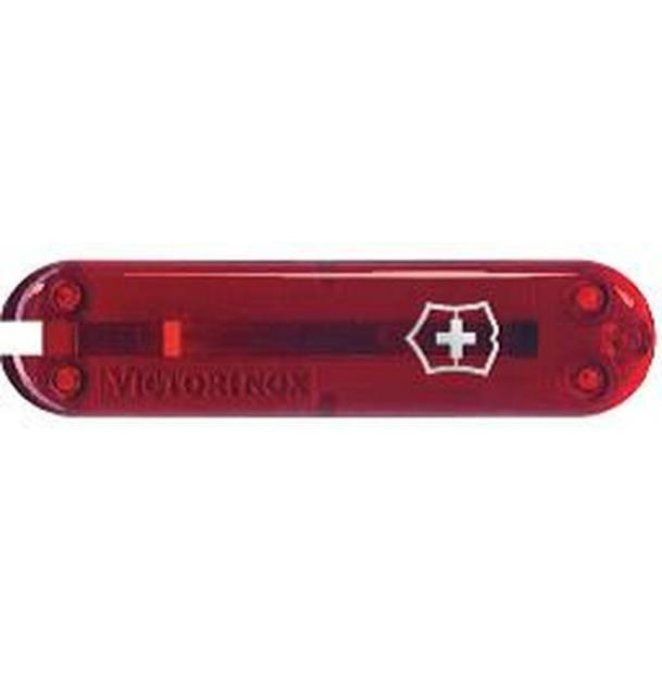 Передняя накладка для ножей VICTORINOX 58 мм, пластиковая, полупрозрачная красная