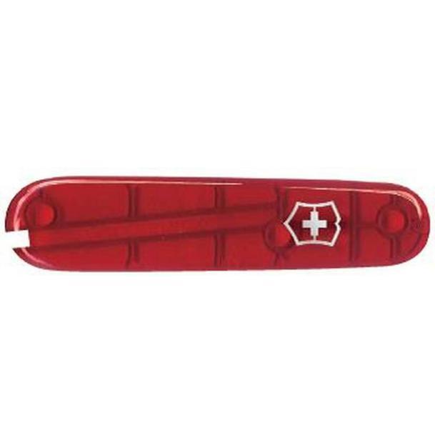 Передняя накладка для ножей VICTORINOX 84 мм, пластиковая, полупрозрачная красная