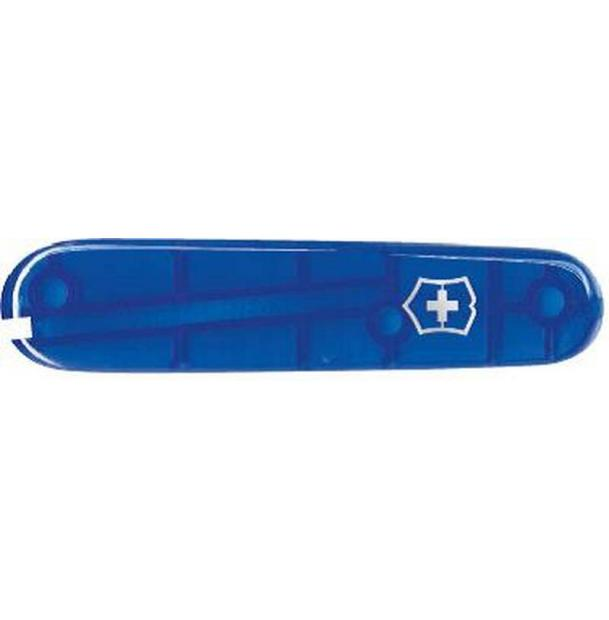 Передняя накладка для ножей VICTORINOX 91 мм, пластиковая, полупрозрачная синяя