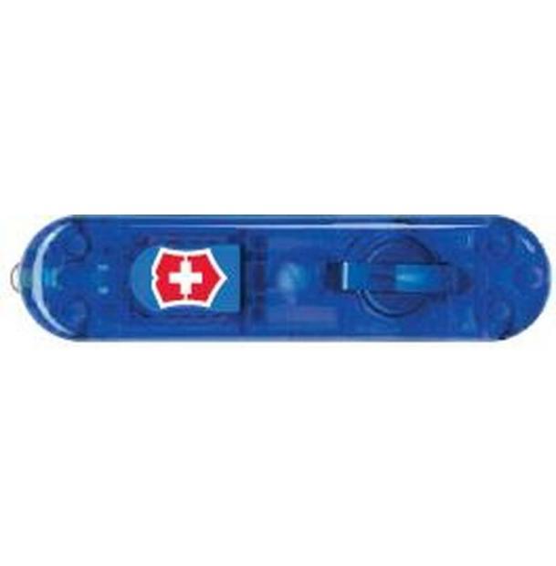 Передняя накладка для ножей VICTORINOX SwissLite 58 мм, пластиковая, полупрозрачная синяя
