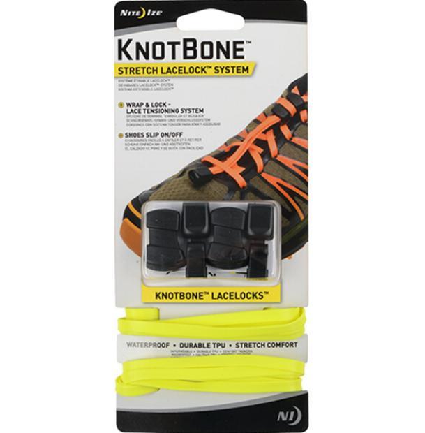 Шнурки с фиксатором Nite Ize KnotBone Stretch LaceLock System Neon Yellow