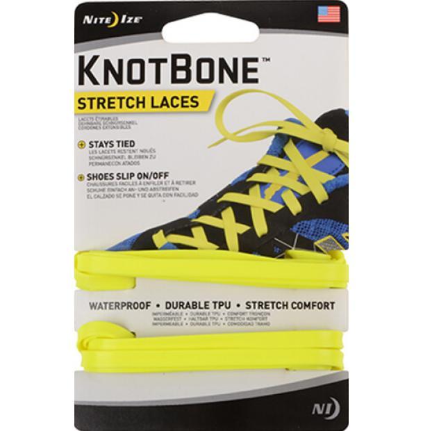 Шнурки Nite Ize KnotBone Stretch Laces Neon Yellow
