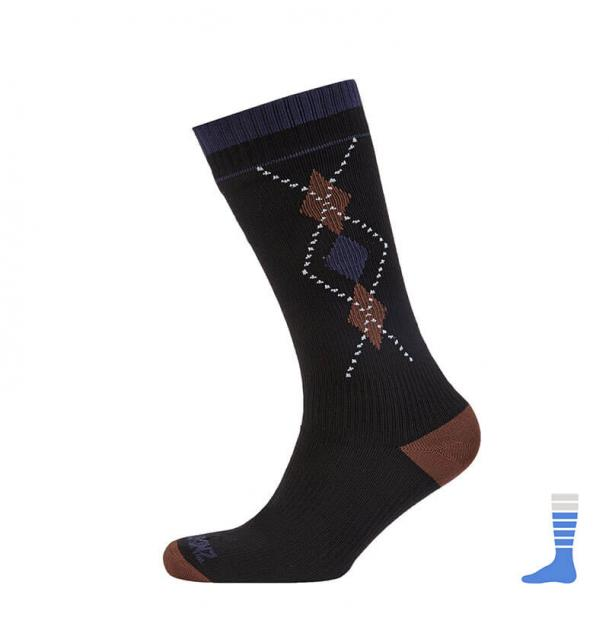 Носки водонепроницаемые SealSkinz Mid Weight Mid Length Sock Black/Brown M