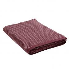 Плед из хлопка Tkano Essential 130х180 см бордовый