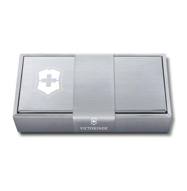 Подарочная коробка VICTORINOX для ножей 84-91 мм толщиной до 5 уровней, картонная, серебристая