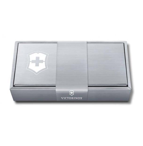 Подарочная коробка VICTORINOX для ножей 84-91 мм толщиной до 6 уровней, картонная, серебристая