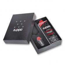 Подарочная коробка ZIPPO (кремни + топливо 125 мл + место для широкой зажигалки)