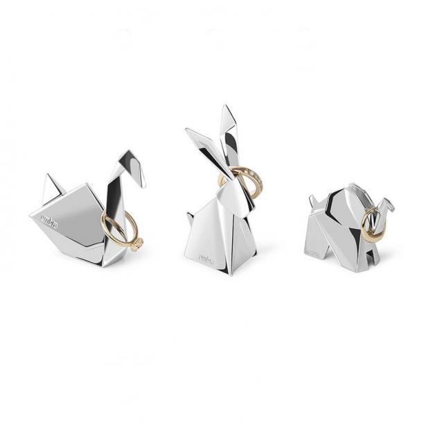 Подставки Для Колец Umbra Origami 3 шт. Хром