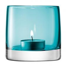 Подсвечник для чайной свечи LSA International Light Colour 85 см бирюзовый